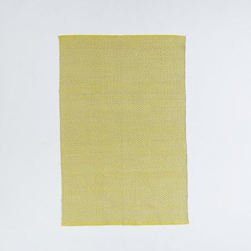 $200 Skinny Mini Chevron Jute Rug - Sun Yellow #westelm
