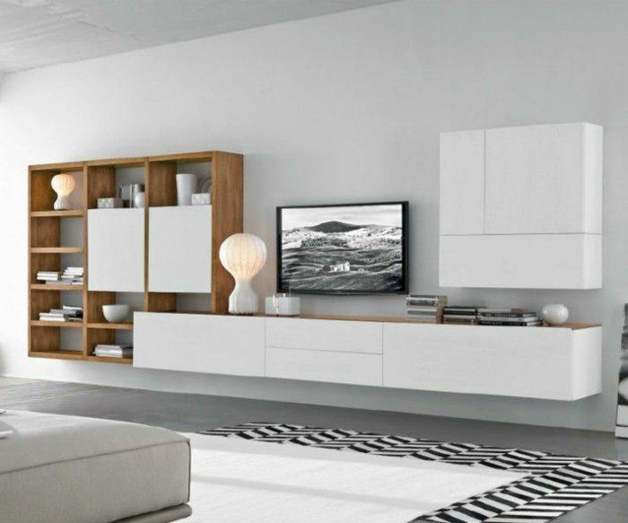 modern tv wall made of sustainable solid wood on behance