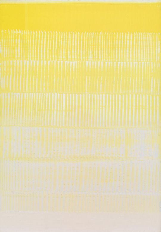 Heinz Mack (German, born 1931)  Dynamic Yellow (Dynamisches Gelb), 1958/59