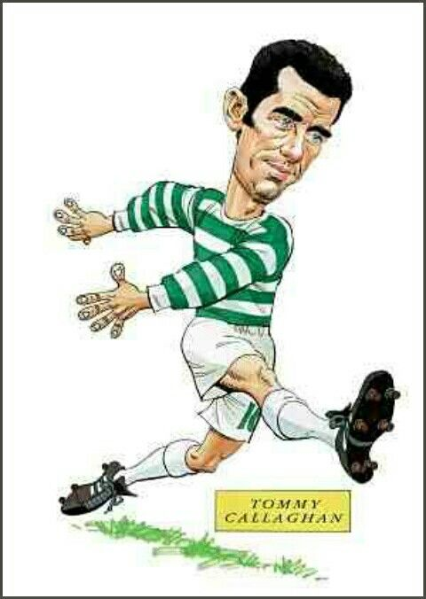 Tommy Callaghan of Celtic in cartoon mode.