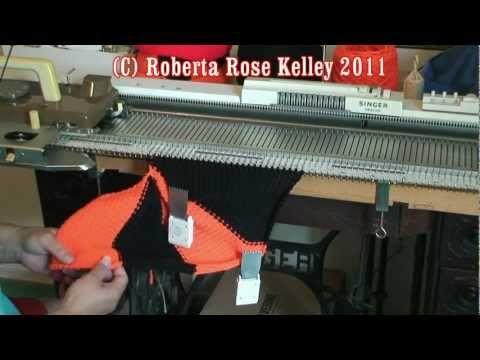 ▶ Machine Knit Sideways Hat shown 2 ways - YouTube
