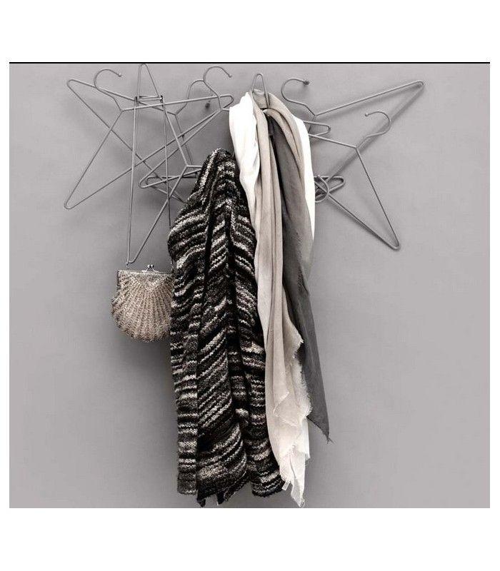 "Porte Manteaux Mural Design Cintres Gris ""Hang On Coat Rack"" - Normann Copenhagen - Wadiga.com"