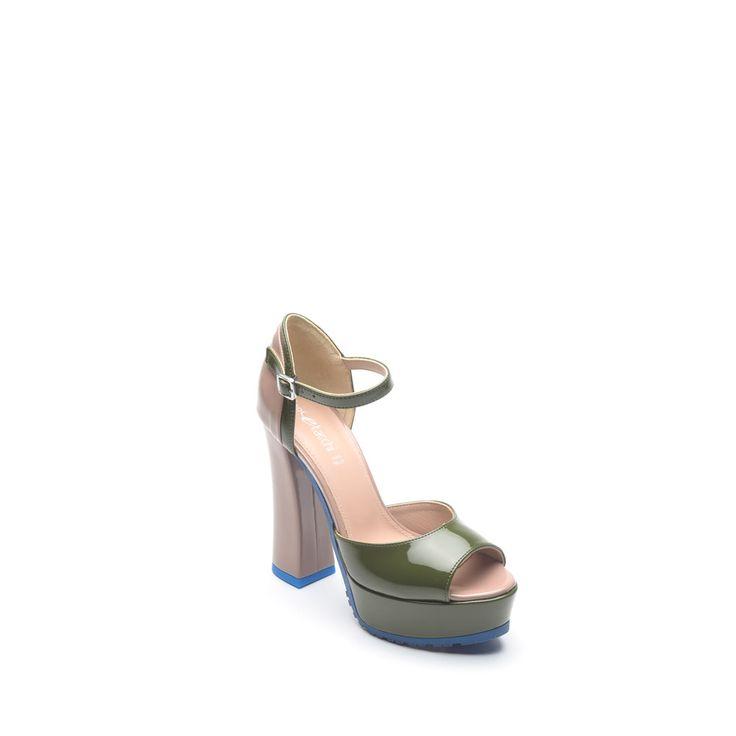 scarpe donna sandali in vernice verdetortora colore - Sandale Colore