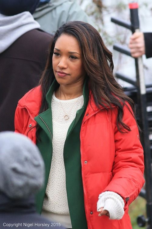 The Flash's Iris West/ Candace Patton. She is wearing the necklace from Barry!