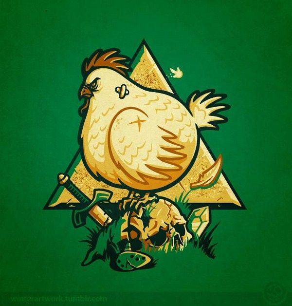 Angry Chicken. Link. #Zelda