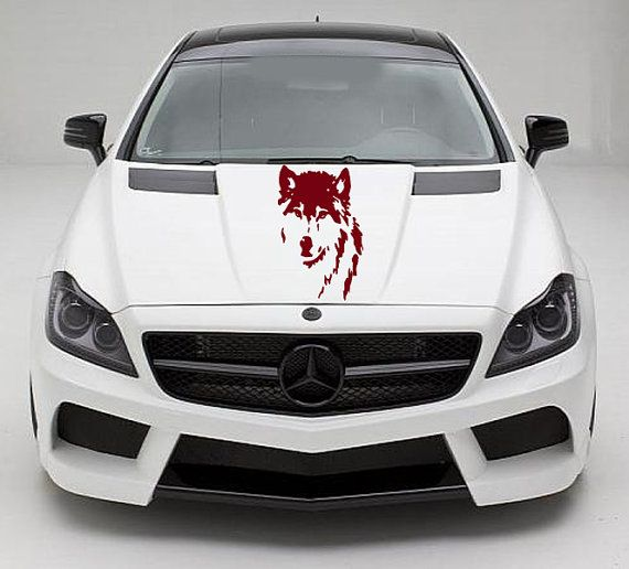 Auto car vinyl decal angry lion face for hood art decor removable stylish sticker unique design any vehicle