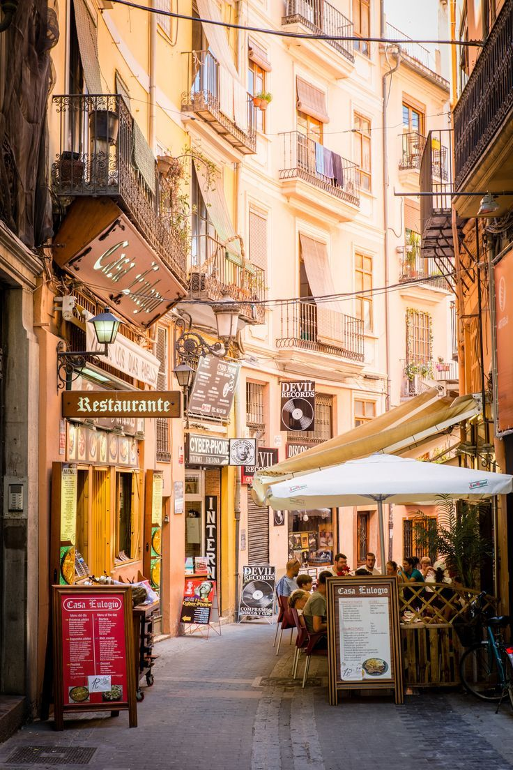 Street Cafe in Valencia, Spain