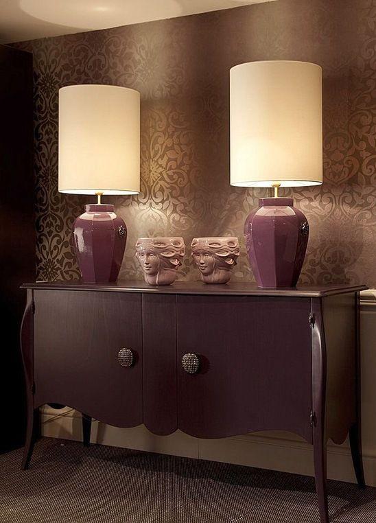 светильники в фиолетовом цвете