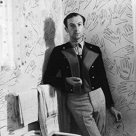 "Cecil Beaton at home ..."" He asked guests to draw around their hand and sign it."" I would like this down a hallway."