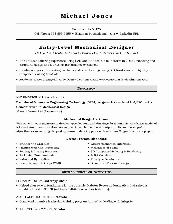 Entry Level software Engineer Resume New Sample Resume for
