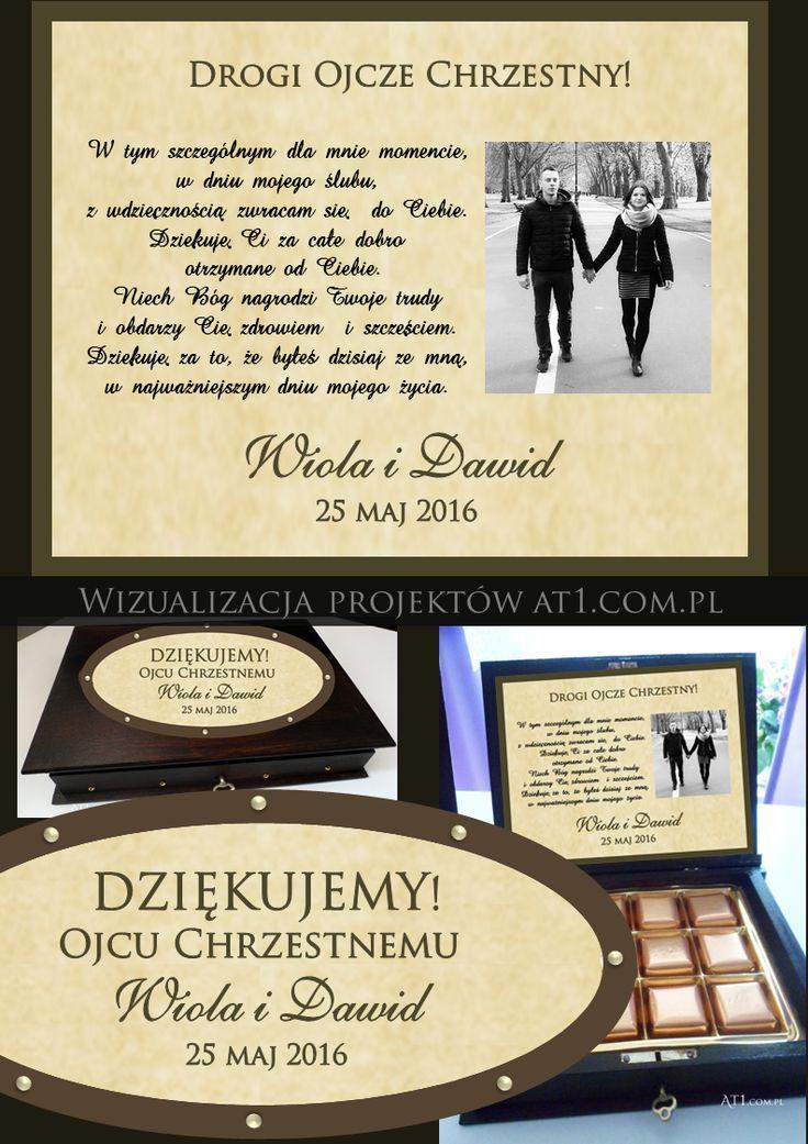 podziękowanie dla rodziców, podziękowanie dla świadków, podziękowanie dla chrzestnych oryginalne pudełko herbatki projekt i druk www.At1.com.pl