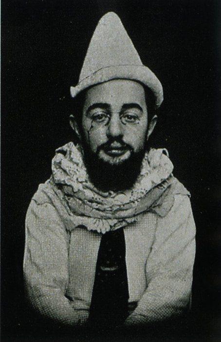 time travel. Henri de Toulouse-Lautrec as Pierrot, 1894