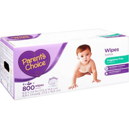 Parent's Choice Fragrance Free Baby Wipes, 800 sheets - Walmart.com