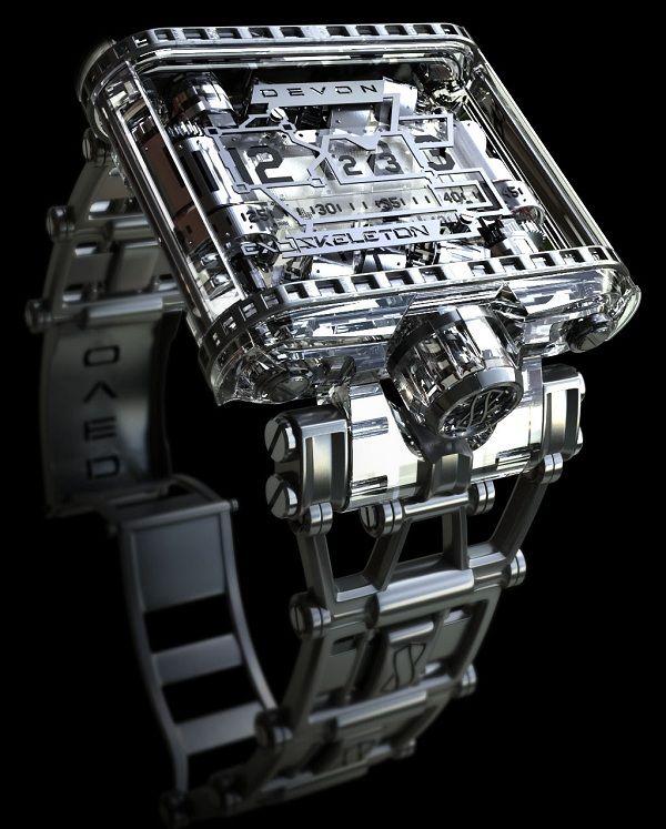 #Devon Watches Funky Futuristic Tread 1 Exoskeleton Watch #watchesformen, #luxurywatches, #bestwatchbrands, #watches300watches