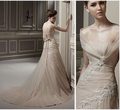 Vintage style wedding dresses fashion weddings 2 of 2 for Old style wedding dresses