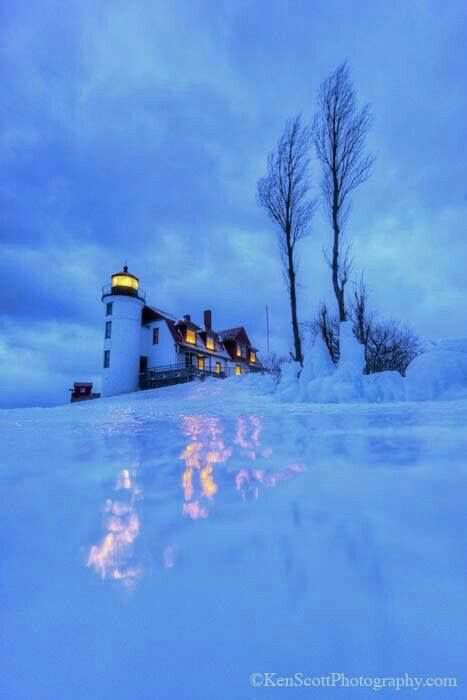 Point Betsie Lighthouse,  Northeast Shore of Lake Michigan, 1854