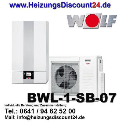 Wolf BWL-1SB-07 Split Luft/Wasser-Wärmepumpe ohne Elektroheizelement
