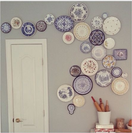 I would use colorful plates