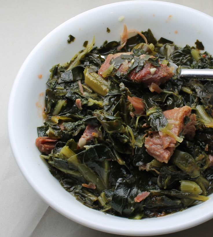 Easy collards with smoked turkey -lollipopsicle.net