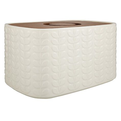 Buy Orla Kiely Raised Stem Bread Bin, Cream Online at johnlewis.com
