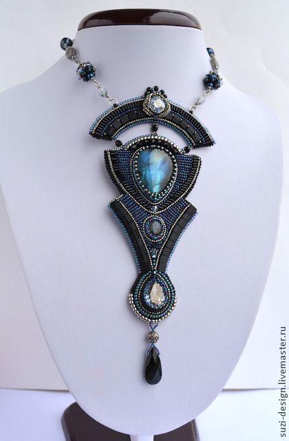 Necklace, handmade beads. Fair Masters - handmade necklace Black Swan. Handmade.