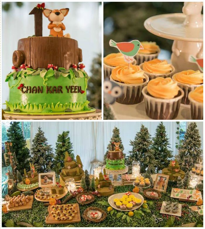 Woodland Animal Birthday Party via Kara's Party Ideas ...