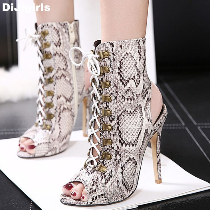 >> Click to Buy << 2017 New Snake Style Women Sandals Sexy Summer Boots Open Toes Women High Heels Ladies Shoes #Affiliate