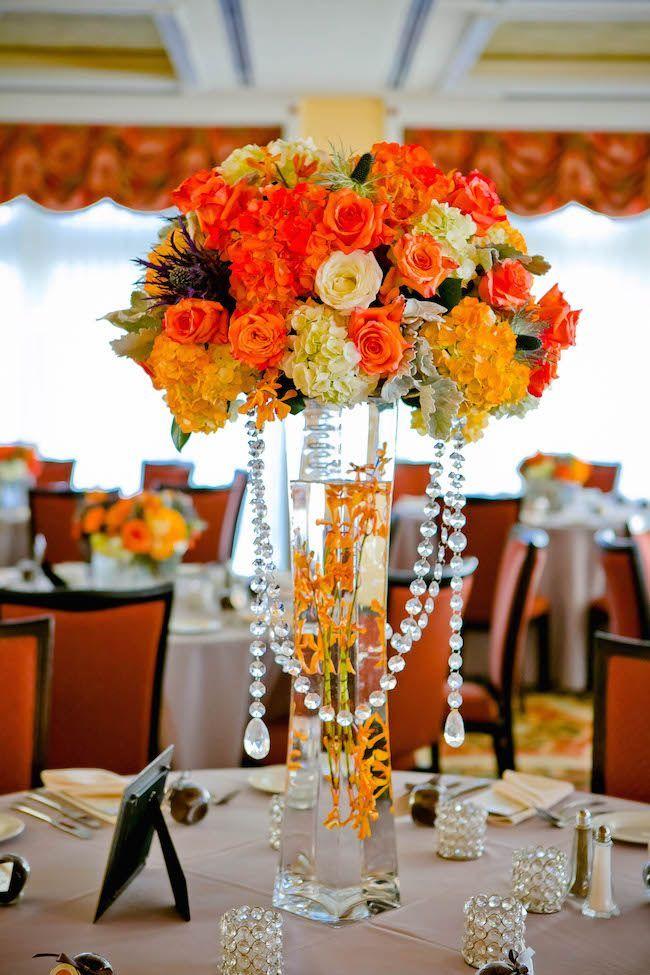 Best orange centerpieces ideas on pinterest