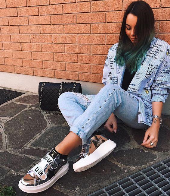 BAD GIRL CLUB SNEAKERS ✔️ @ravottimartina for SHOP ART #sneakers #collection ! #springsummer17 #shopartstyle #badgirlsclub #supertop
