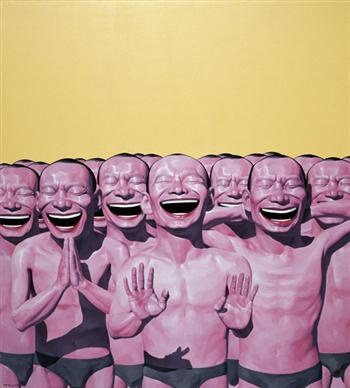 Yue Minjun is a contemporary Chinese artist