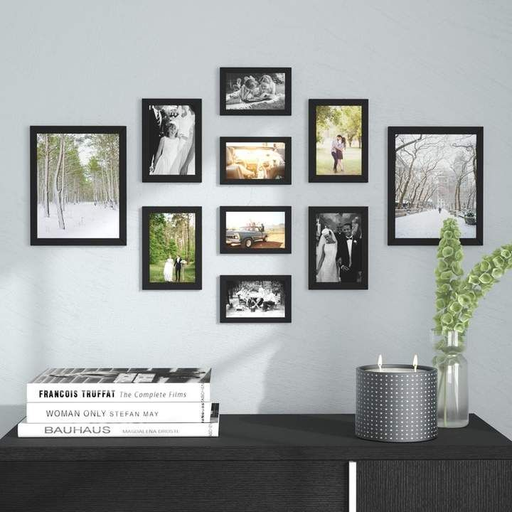 Buckman 10 Piece Collage Picture Frame Set Photo Wall Decor Picture Frame Wall Picture Gallery Wall