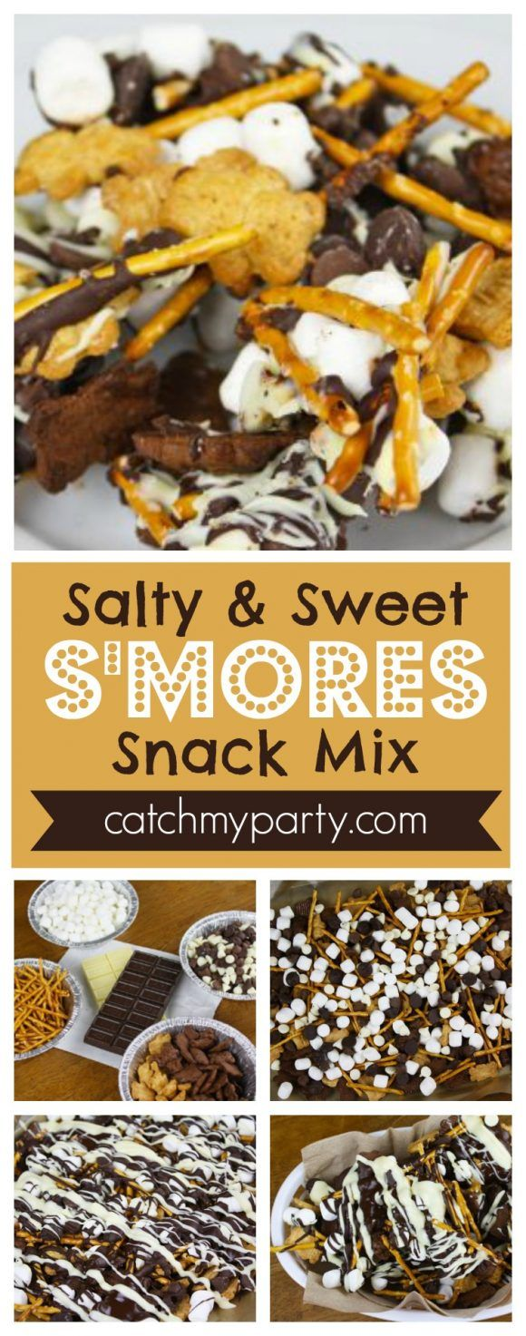 Salty and Sweet S'mores Snack Mix Recipe | CatchMy…