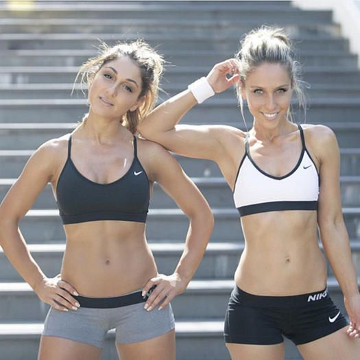 Check out this fit Instagram duo and shop their amazing gym gear. These black and white athletic pieces include Nike shoes, crops, leggings and cool sports bras.