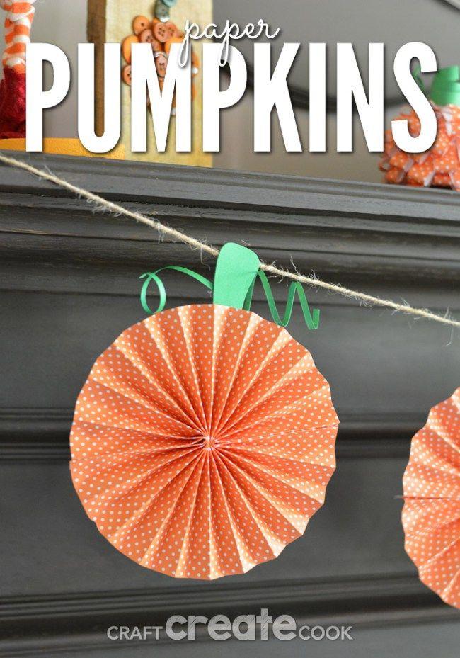 fall decorations paper pumpkins