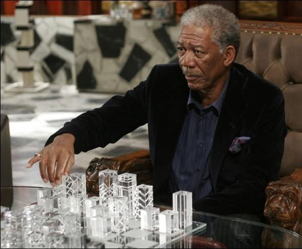 """You cannot afford to live in potential for the rest of your life; at some point, you have to unleash the potential and make your move."" - - - Eric Thomas.  {Morgan Freeman with the EXTRAORDINARY chess pieces}. www.kerlagons.com"
