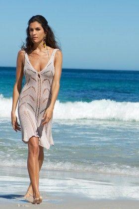 Sea-me Beachwear Pure Bej Rengi Plaj Elbisesi: Lidyana.com