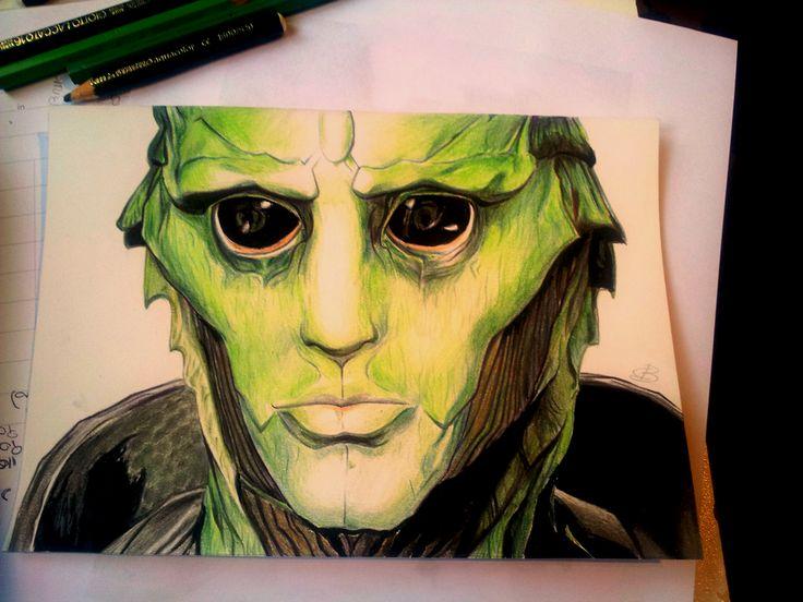 Thane Krios, di Mass Effect. Pastelli. Tempo di disegno: 2 ore