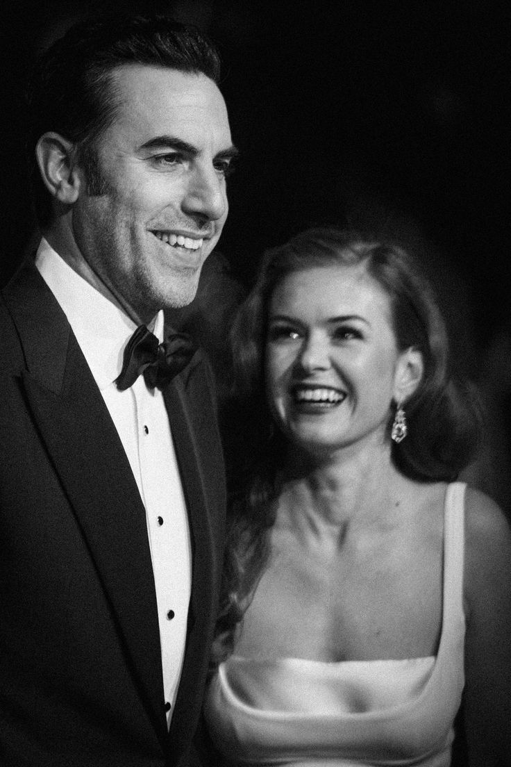 Sacha Baron Cohen and Isla Fisher || And, of course, it was also Valentine's Day, so plenty of celebrity couples turned up for date night. | These Photos Make The 2016 BAFTAs Look Like The Golden Age Of Hollywood