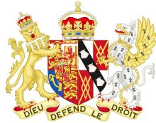 Diana's coat-of-arms during her marriage to Prince Charles (she was then known as HRH The Princess of Wales).