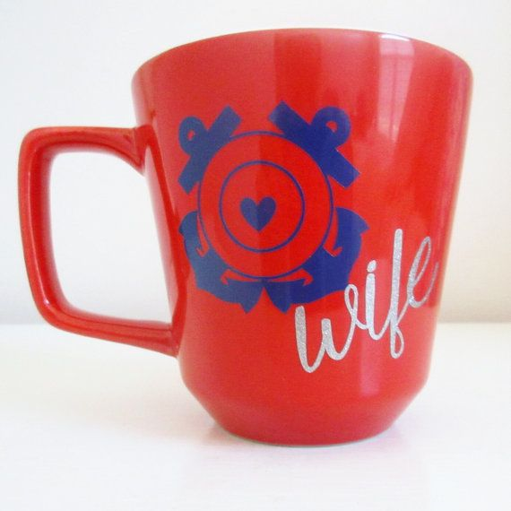Hey, I found this really awesome Etsy listing at https://www.etsy.com/listing/253794569/coast-guard-wifemom-mug