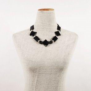 collana di perle onice nero ed onice striato