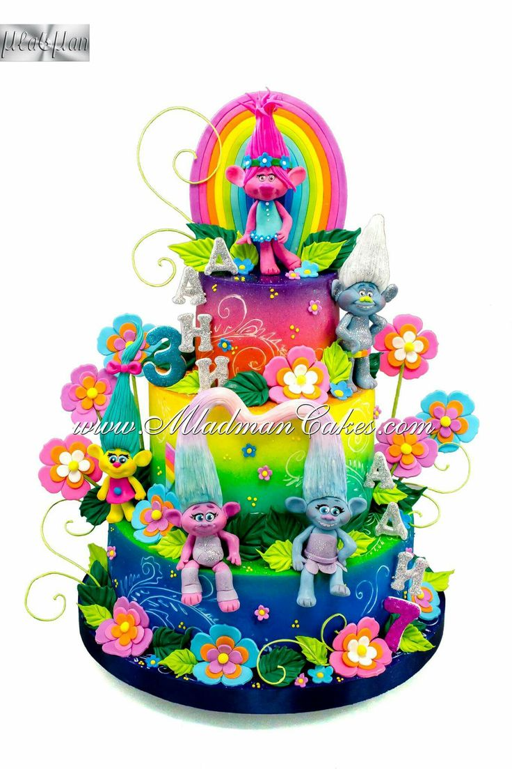 Cake Decoration Trolls : 65 best images about Troll Cakes on Pinterest Movie cakes, Branches and Fondant toppers