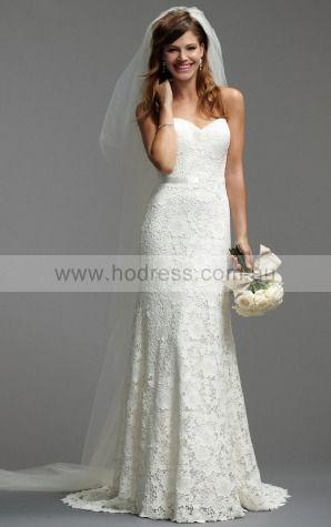 Sheath Sweetheart Empire Sleeveless Floor-length Wedding Dresses was0082--Hodress