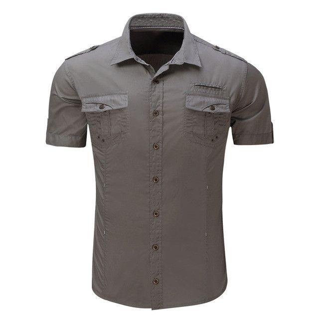 Summer Men Military Shirt