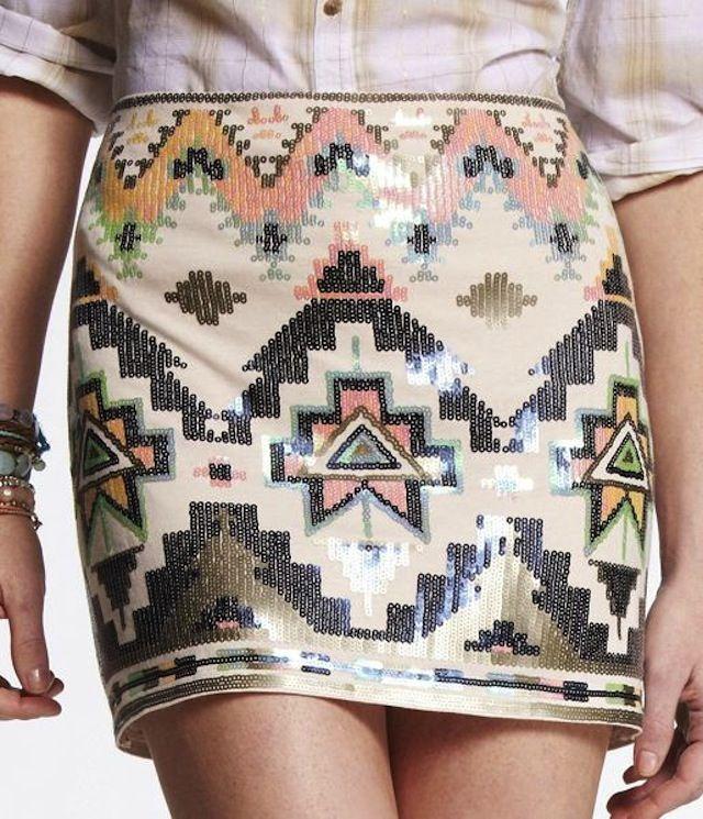 Aztec Print sequins! gorgeous!