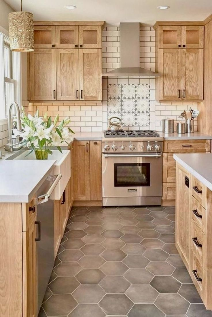 27 Great Farmhouse Kitchen Sink Ideas Rustic Kitchen Cabinets Kitchen Renovation Cherry Wood Kitchen Cabinets