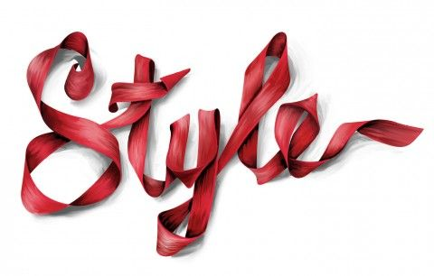Style Lettering for Vanity Fair by Alex Trochut.