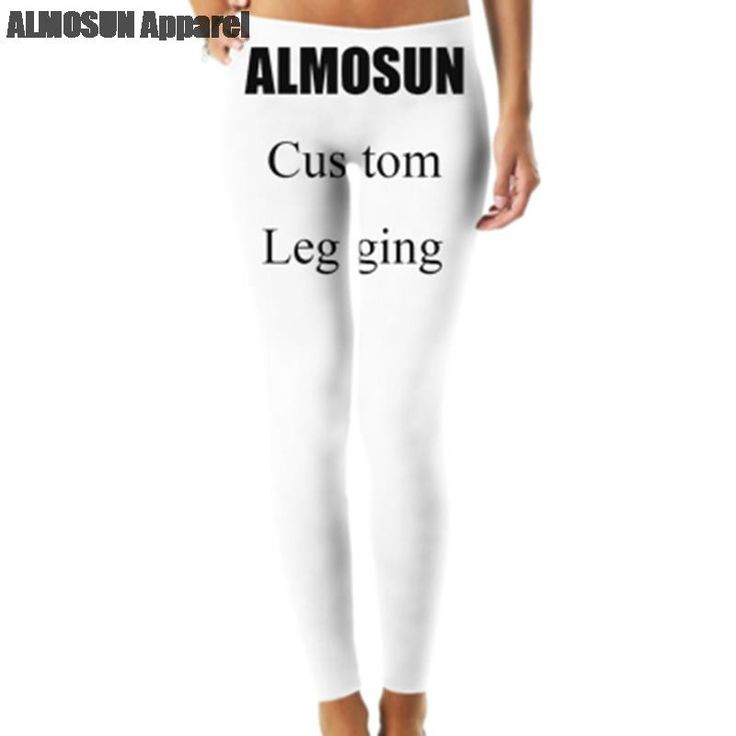 ALMOSUN Custom Legging Women Sportwear For Fitness legging high waist Elastic Bodybuilding girls leggings