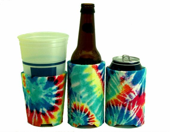 Beverage Insulator Tie Dye Flannel PocketHuggie-Cold/Hot Starbucks Cup, Soda,Solo Cup,Beer,Reusable,Folds,3 SIZES:Cup/Can/Bottle by PocketHuggie. Explore more products on http://PocketHuggie.etsy.com