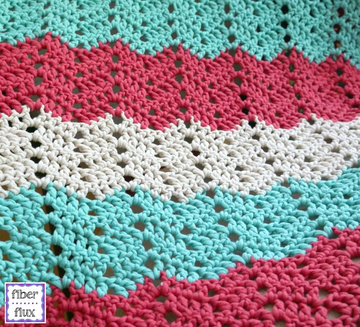The Boardwalk Breeze is a beautiful and super comfy blanket that is quick to stitch up. Shades of aqua, cream, and soft red give t...